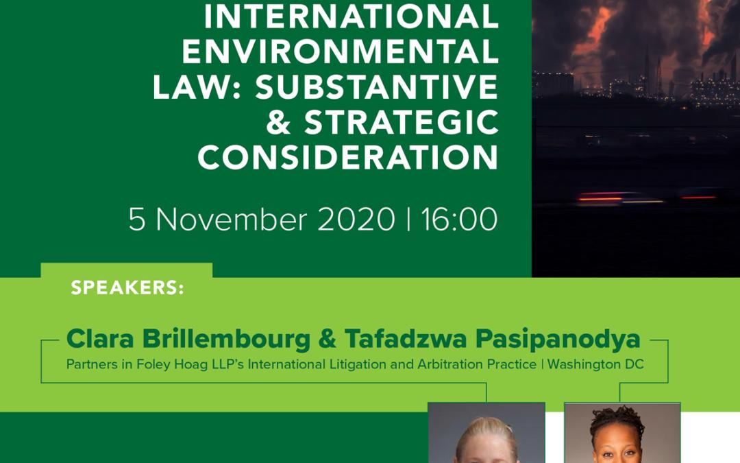ELA Webinar: Litigating International Environmental Law: Substantive & Strategic Considerations