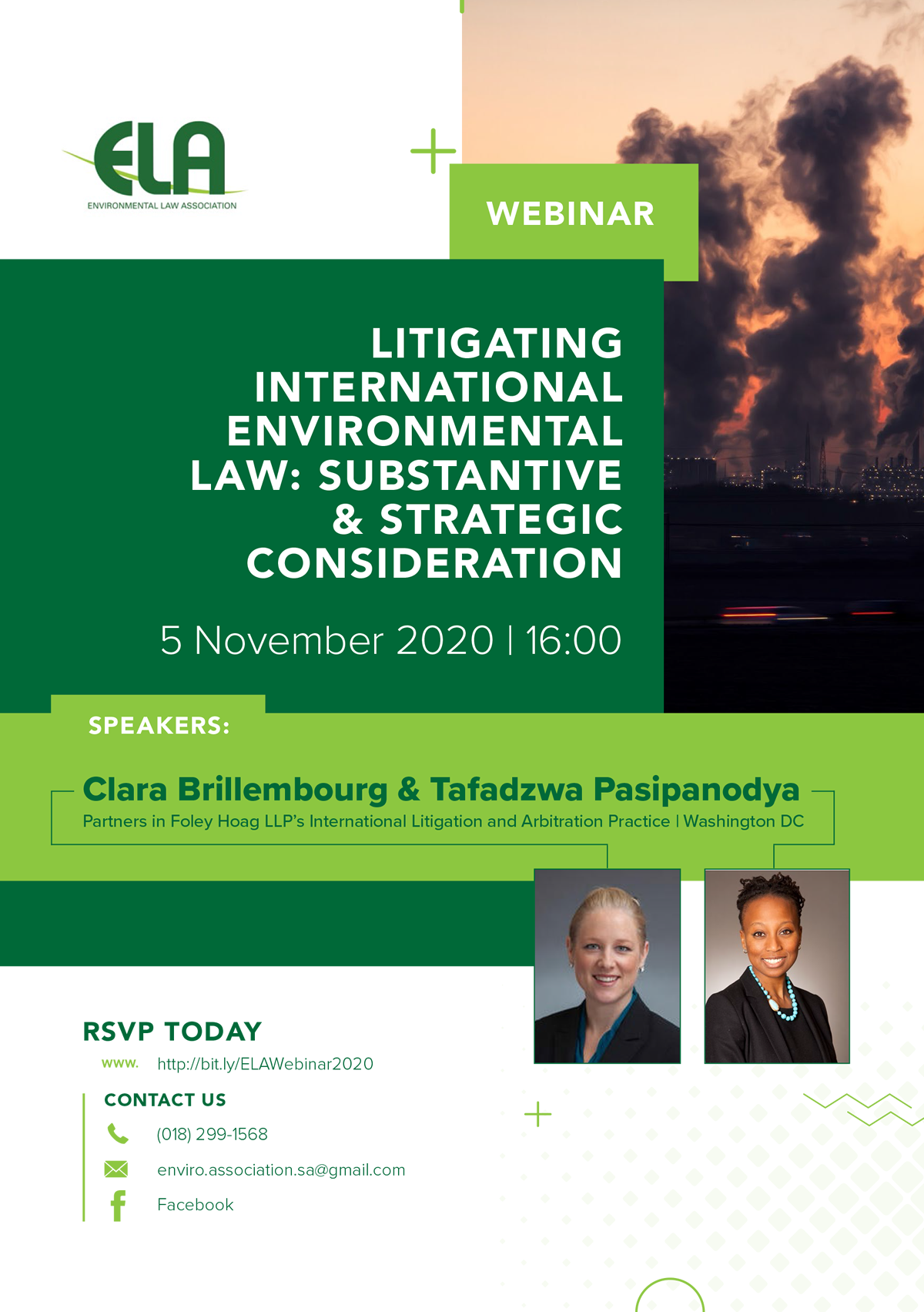 ELA Webinar: Litigating International Environmental Law: Substantive & Strategic Considerations