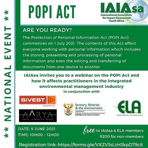 POPI Webinar in collaboration with IAIA SA